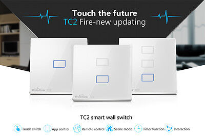 BroadLink Home Automation TC2-3 Wall Touch Switch Smart Wireless Remote Control