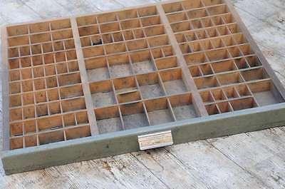 alter Setzkasten original Vintage Schublade Druckerei industrie design Deko .
