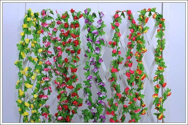 Home Decoration - 7 feet String Fake Artificial Flowers Vine Ivy Leaf Garland Floral Home Decor