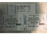 2 x U2 seated tickets FOR SALE sat 27th oct