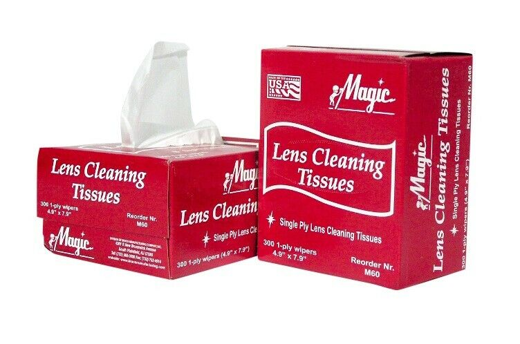 Magic New Lens Cleaning Tissues 1 Box (300 Towelettes) - MS93225 *FREE SHIPPING*