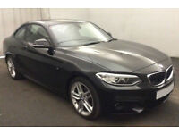 Black BMW 218 1.5 coupe Petrol 2016 i M Sport FROM £72 PER WEEK!