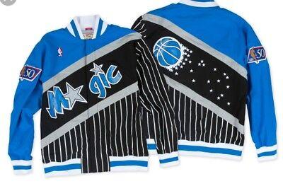 Authentic Nba Mitchell   Ness Orlando Magic Pinstripe Vintage Warm Up Jacket