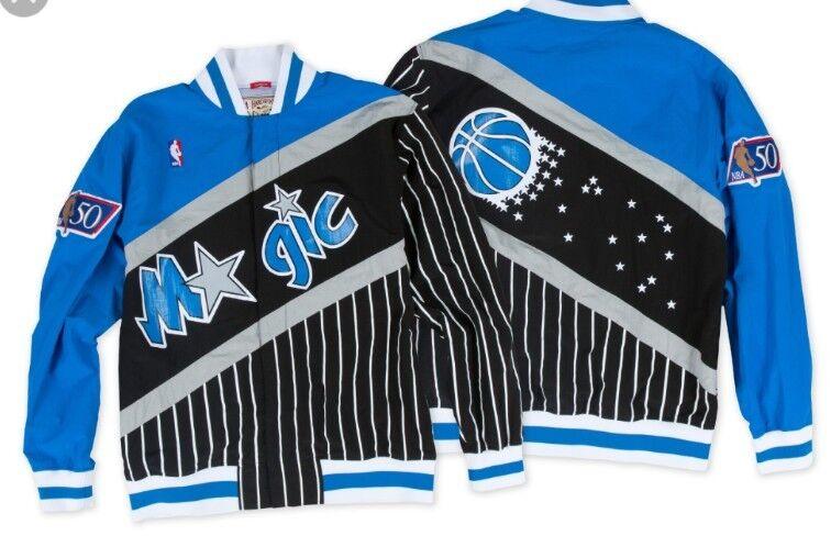 ebadccc3d4bbf Authentic NBA Mitchell & Ness Orlando Magic Pinstripe Vintage warm-up Jacket