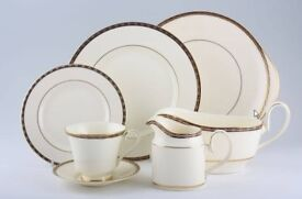 Minton St. James pattern fine bone china with beautiful gold and blue edging and made in England.