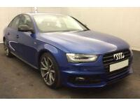 Blue AUDI A4 SPORTBACK 1.8 2.0 TFSI Petrol BLACK EDITION PLUS FROM £93 PER WEEK!
