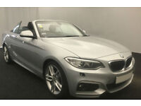 Silver BMW 220 2.0TD convertible Auto 2016 d M Sport FROM £93 PER WEEK!