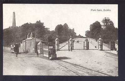 Ireland DUBLIN Park Gate Tram PPC