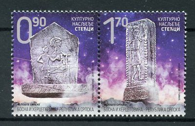 Bosnia & Herzegovina Serbia Admin 2017 MNH Tombstones Tombstone 2v Set Stamps