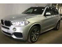 Silver BMW X5 3.0TD 4X4 Auto 2013 xDrive30d M Sport FROM £140 PER WEEK!