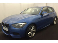 Blue BMW 120d M Sport 2.0 184bhp 2015 5 door FROM £57 PER WEEK!