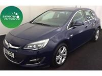 ONLY £152.06 PER MONTH BLUE 2013 VAUXHALL ASTRA 1.4 SRI 5 DOOR PETROL MANUAL