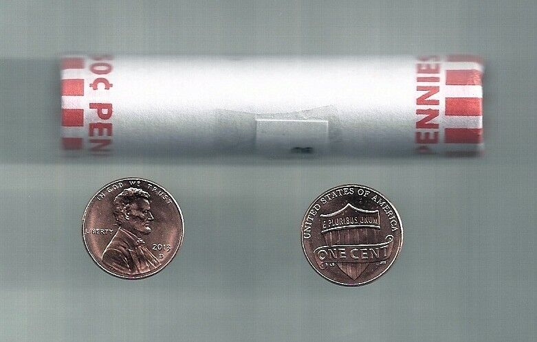 BU ROLL OF 2013-D CENTS