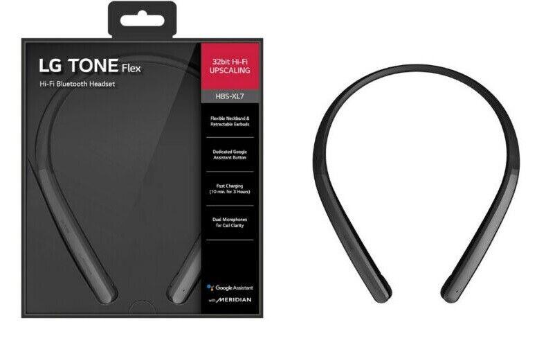 Lg Tone Flex Hbs Xl7 Neckband Bluetooth Wireless Stereo Headphones Black Ebay