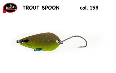 COL.154  MATT PINK SCALE SPINNING TROTA LAGO FIUME TROUT SPOON MOLIX  5 GR