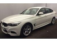 White BMW 335 3.0TD 4X4 Auto 2016 d xDrive M Sport GT FROM £109 PER WEEK!