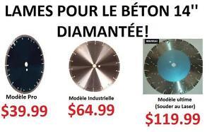 Lames pour le béton diamantées 14'' (50% prix du marché!!!)