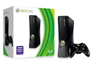 XBox 360 with Kinect + 4 controllers + Games