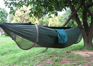 Hammock with Mosquito Bug Net - Green