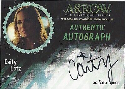 2017 Arrow Season 3 CL1 CAITY LOTZ as SARA LANCE Autograph Cryptozoic
