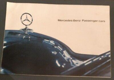Mercedes Benz 1963 Original Sales Brochure 190 220 300 600 230SL 600 Pullman