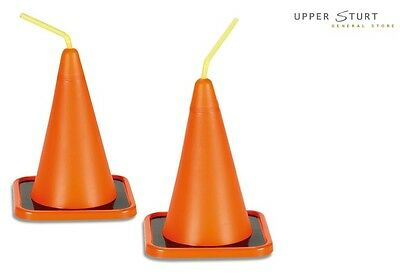 Construction Cone Cups 8 Pack Drinking Cup Party Supplies - Construction Cone Cups