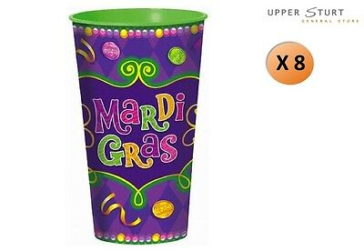 stic Cup Purple Green Tumbler 8 Pack Party Supplies (Mardi Gra Party Supplies)