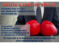 Boxing and Evening Dinner Show, Bournemouth