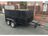 Twin wheel axle car trailer