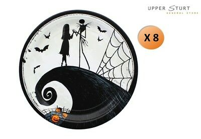 Nightmare Before Christmas Dinner Plates 8 Pack Party Supplies NBX ()