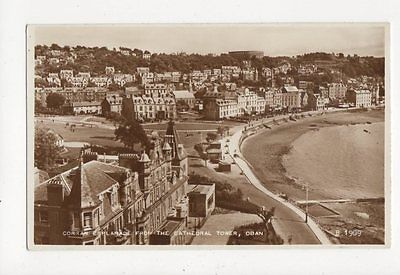 Corran Esplanade From Cathedral Tower Oban RP Postcard  214a