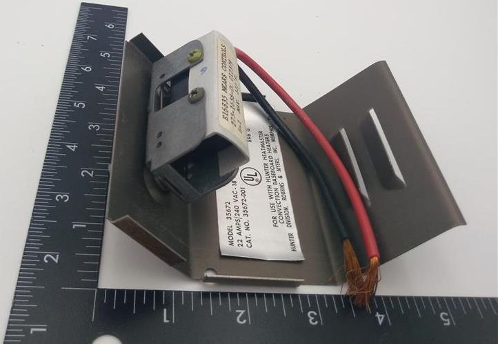 HUNTER 35672 Single Pole Thermostat Kit 22A 240VAC 18A 277VAC 60Hz