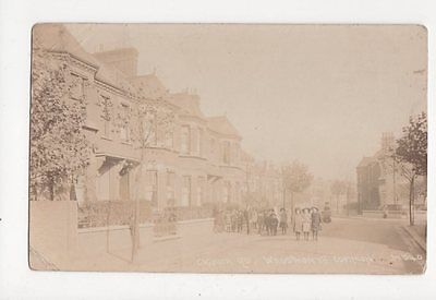 Cicada Road Wandsworth Common London Vintage RP Postcard 140a