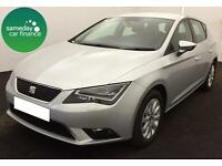 £191.14 PER MONTH SILVER 2013 SEAT LEON 1.6 TDI SE 5 DOOR DIESEL MANUAL