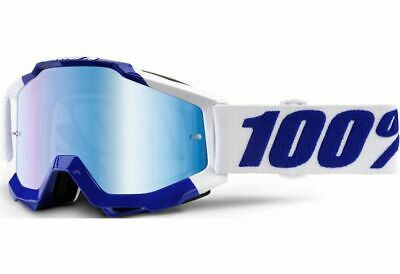 100% Accuri MX Goggle - Calgary - with Mirror Blue Lens -  Motocross BMX (Eyewear Calgary)