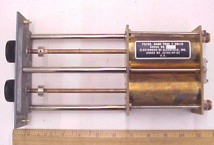 F-204 UHF 374-404 mhz DUAL CAVITY FILTER RADIO TUNER TRANSMITTER MILITARY F204