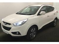HYUNDAI IX35 WHITE 2.0 CRDI PREMIUM 4WD STATIONWAGON DIESEL FROM £51 PER WEEK!