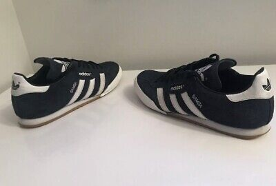 Mens Adults Navy Blue White Adidas Originals Samba Trainers Shoes UK Size 9 1/2