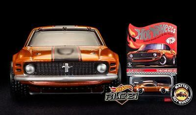 2021 Hot Wheels RLC '70 MUSTANG BOSS 302 with BUTTON Redline Club **Ships Now**