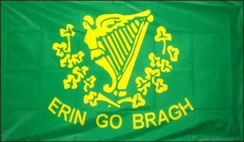 ERIN GO BRAGH Irish American civil war flag 5 x 3 eire
