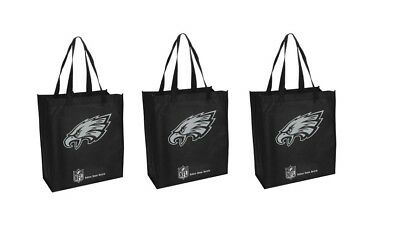 - 3 Philadelphia Eagles Reusable Shopping Grocery Tote Gift Bags - Go Green NEW
