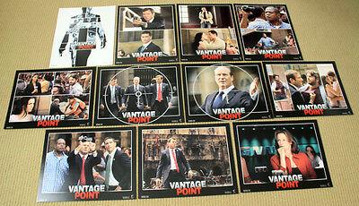 VANTAGE POINT original 8x10 LOBBY CARD SET Matthew Fox DENNIS QUAID Zoe Saldana