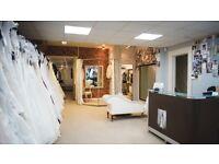 Saturday staff/holiday cover in Bridal & Menswear shop