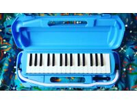 Bright Blue Melodica with Hard Carry Case (NEW)