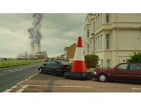 Harry hill's motorised driving traffic road cone wanted. REWARD for purchase
