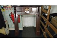 Mahogany fire surround. In excellent clean condition. Free delivery.