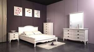 【30% OFF】Roman White Solid Acacia D/K Bedroom suite from Nunawading Whitehorse Area Preview