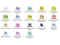 ADOBE PHOTOSHOP, INDESIGN, ILLUSTRATOR CS6,etc...