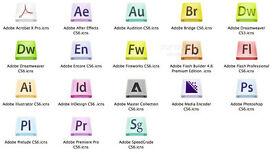 ADOBE INDESIGN, ILLUSTRATOR, PHOTOSHOP CS6,etc... for PC/MAC