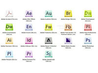 ADOBE PHOTOSHOP, INDESIGN, ILLUSTRATOR CS6,etc... for the PC/MAC